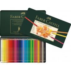 Faber-Castell. Цветные профессиональные карандаши Polyhromos 36 цветов в металлической упаковке