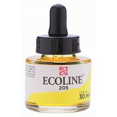 Royal Talens акварель жидкая Ecoline в баночке 30 мл. №205 желтый лимонный