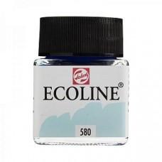 Royal Talens акварель жидкая Ecoline в баночке 30 мл. №580 голубой пастельный