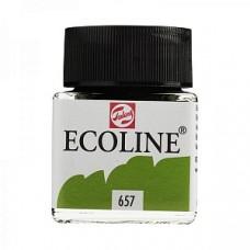 Royal Talens акварель жидкая Ecoline в баночке 30 мл. №657 зеленая бронза