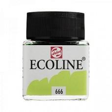 Royal Talens акварель жидкая Ecoline в баночке 30 мл. №666 зеленый пастельный