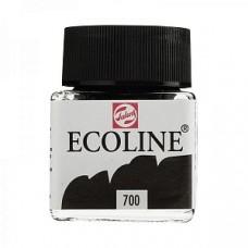 Royal Talens акварель жидкая Ecoline в баночке 30 мл. №700 черный