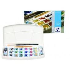 Talens. Набор акварельных красок VAN GOGH в пластиковой коробке, 18х5 мл