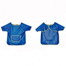 Фартук рубашка с карманом, 78*58 см, 100% полиэстер, синий