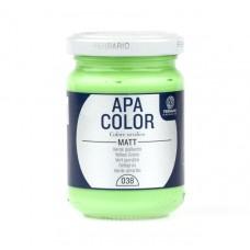 """Акриловая краска APA COLOR №38 """"Жёлто-зелёный"""", 150 мл"""
