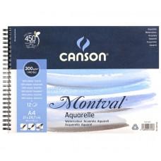 Canson Альбом для акварели Монваль 300 г/м, Фин, 21х29 см