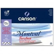 Canson Альбом для акварели Монваль 270 г/м, 29,7х42 см Снег