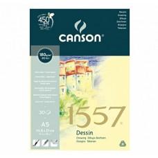 Canson Альбом для графики 1557 180 гр/м, 14.8х21 см, Малое зерно