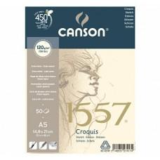 Canson Альбом для графики 1557 120 гр/м 14.8х21 см, Малое зерно