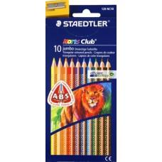 Faber-Castell. Набор карандашей цветных Noris Club 127 Jumbo, 10 цветов