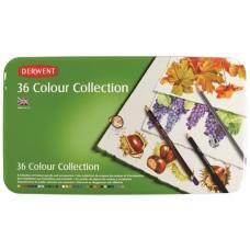 Derwent. Набор пастельных карандашей Colour Collection 36 цветов