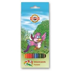 "Koh-i-noor. набор цветных карандашей ""Птицы"" набор 24 цвета"