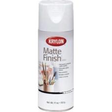 Krylon. Защитный лак в аэрозоли Matte Finish, 311гр., матовый