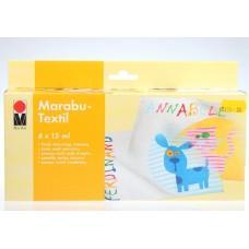 Marabu. Набор красок по ткани Textil для светлей ткани, 6х15 мл