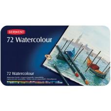 Derwent. Набор акварельных карандашей WaterColour, 72 цвета, металлическая коробка