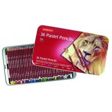 Derwent. Набор пастельных карандашей PastelPencils, 36 штук, металлическая коробка
