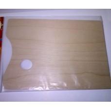 Китай Ипина. Палитра деревянная из фанеры, прямоугольная, 30х40 см