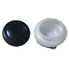 Китай Ипина. Масленка пластиковая, одинарная с крышкой, диаметр 5 см