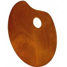 Китай Ипина. Палитра деревянная для красок, овальная, 25х30см