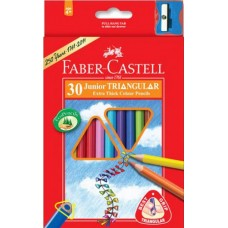 Faber-Castell. Карандаши цветные  JUNIOR GRIP 30 цветов, трехгр