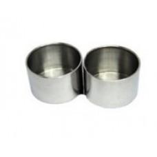 Масленка металлическая двойная без крышки D=6,1см