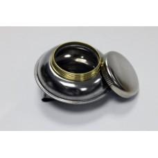 """Масленка одинарная, металлическая с крышкой, форма - """"пузатая"""" d-5,5 см"""