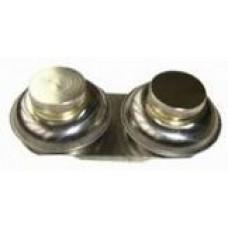 Масленка металлическая двойная с крышкой D=5,5см
