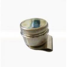 Масленка металлическая одинарная с крышкой, цилиндр